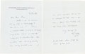 Books:Manuscripts, H. G. Wells Autograph Letter Signed. Two octavo pages on one leafof Wells' stationery note paper, 9 x 7 inches, Clarence Ga...