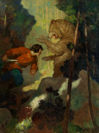 NEWELL CONVERS WYETH (American, 1882-1945) When He Was Fourteen, Michael Strogoff Had Killed His First Bear, Qu