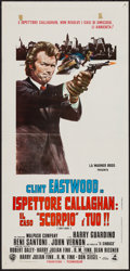"Movie Posters:Crime, Dirty Harry (Dear International, 1971). Italian Locandina (13"" X27.5""). Crime.. ..."