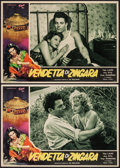 """Movie Posters:Foreign, Vendetta di Zingara (Tipo,1950). Italian Photobusta Set of 10 (13.5"""" X 19""""). Foreign.. ... (Total: 10 Items)"""