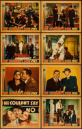 "Movie Posters:Adventure, He Couldn't Say No (Warner Brothers, 1938). Lobby Card Set of 8(11"" X 14""). Adventure.. ... (Total: 8 Items)"