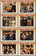 "Movie Posters:Crime, Women Without Names (Paramount, 1940). Lobby Card Set of 8 (11"" X 14""). Crime.. ... (Total: 8 Items)"