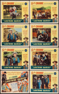 "Movie Posters:Western, Lightning Raiders (PRC, 1945). Lobby Card Set of 8 (11"" X 14"").Western.. ... (Total: 8 Items)"