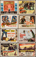 "Movie Posters:Western, Law and Order & Others Lot (Realart, R-1950). Title Lobby Cards (8) (11"" X 14""). Western. Reissue Title: Guns A'Blazin.... (Total: 8 Items)"