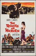 "Movie Posters:Adventure, The Roots of Heaven (20th Century Fox, 1958). One Sheet (27"" X41""). Adventure.. ..."