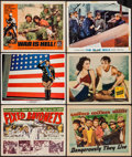 "Movie Posters:War, Fixed Bayonets! & Others Lot (20th Century Fox, 1951). TitleLobby Card & Lobby Cards (9) (11"" X 14""). War.. ... (Total: 10Items)"