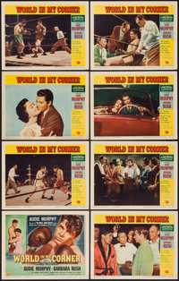 "World in My Corner (Universal International, 1956). Lobby Card Set of 8 (11"" X 14""). Sports. ... (Total: 8 Ite..."