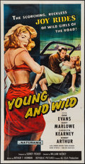 "Movie Posters:Bad Girl, Young and Wild (Republic, 1958). Three Sheet (41"" X 79""). BadGirl.. ..."