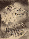 Paintings, HENRIQUE ALVIM CORRÊA (Brazilian, 1876-1910). Livre Premier: L'arrivée des Martiens, from The War of the Worlds, Bel...