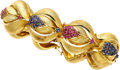 Estate Jewelry:Bracelets, Ruby, Sapphire, Gold Bracelet. ...