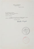 Autographs:Inventors, Orville Wright Typed Letter Signed....