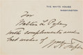Autographs:U.S. Presidents, William Taft White House Card Signed and Inscribed... (Total: 2Items)