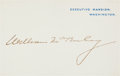 Autographs:U.S. Presidents, William McKinley Executive Mansion Card Signed... (Total: 2 Items)