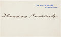 Autographs:U.S. Presidents, Theodore Roosevelt White House Card Signed... (Total: 2 Items)