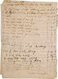 Miscellaneous:Ephemera, Accounting Log for Work Performed and Goods Purchased for LaborerZechariah Austin...