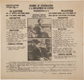 Miscellaneous:Broadside, [Bonnie Parker and Clyde Barrow]. Original 1934 Wanted Poster....