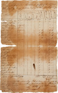 Miscellaneous:Ephemera, [Revolutionary War]. Payroll for Thomas Lamb's Company of theContinental Regiment....