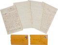 Autographs:Military Figures, Union Soldier Dexter Jewett Group of Three Autograph LettersSigned.... (Total: 3 Items)