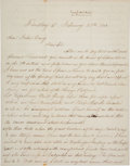 Autographs:Military Figures, [Abraham Lincoln and the Peace Conference of 1861]. Union General John M. Palmer Autograph Letter Signed....