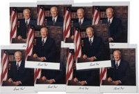 Gerald Ford Photographs (10) Signed
