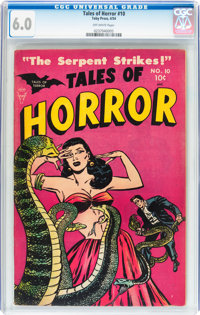 Tales of Horror #10 (Toby Publishing, 1954) CGC FN 6.0 Off-white pages