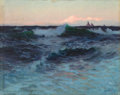 Fine Art - Painting, American:Antique  (Pre 1900), LIONEL WALDEN (American, 1861-1933). Rough Waters. Oil oncanvas. 37 x 47 inches (94.0 x 119.4 cm). Signed lower left: ...