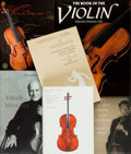 Books:Music & Sheet Music, Group of Five Books on the Violin and Cello.... (Total: 6 Items)
