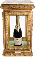 Autographs:Statesmen, Winston Churchill and Dwight D. Eisenhower Signed Bottle ofChampagne with Display Case.... (Total: 2 Items)