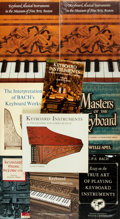 Books:Music & Sheet Music, [Keyboard Instruments]. Group of Nine Books.... (Total: 9 Items)