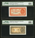 World Currency: , Yugoslavia Democratic Federation.. ... (Total: 2 notes)
