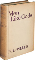Books:Science Fiction & Fantasy, H. G. Wells. Men Like Gods. London: Cassell and Company, [1923]....