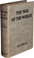 Books:Science Fiction & Fantasy, H. G. Wells. The War of the Worlds. London: WilliamHeinemann, 1898....