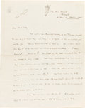 Books:Manuscripts, H. G. Wells. Autograph Letter Signed with Original Drawings. Onblank paper from Wells's home in Sandgate, A Day in October,...