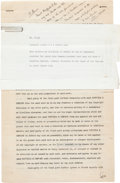 Books:Manuscripts, H. G. Wells. Collection of Four Contracts, a Post Card and anAutograph Letter related to the Publication of Various Works. ...(Total: 6 Items)