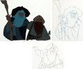 Animation Art:Production Cel, Lord of the Rings Gandalf and Gimli Production Cel(Bakshi/United Artists, 1978).... (Total: 2 Original Art)
