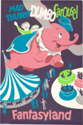 "Animation Art:Poster, ""Fantasyland/Disneyland"" Dumbo Ride and Tea Cups Park EntrancePoster (Walt Disney, 1955)...."