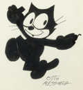 Animation Art:Production Drawing, Otto Messmer Felix the Cat Illustration (Pat Sullivan,undated)....