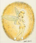 Animation Art:Production Drawing, Peter Pan Tinker Bell Illustration by Marc Davis (WaltDisney, c. 1970-80s)....