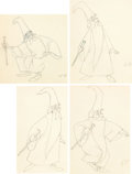 Animation Art:Production Drawing, The Sword in the Stone Animation Drawings Sequence Group (Walt Disney, 1963).... (Total: 17 Original Art)
