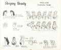 animation art:Model Sheet, Sleeping Beauty Studio Model Sheet Group (Walt Disney,1959).... (Total: 8 Items)