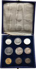 Vatican City, Vatican City: Pius XII Mint Set 1943,... (Total: 9 coins)