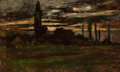 Fine Art - Painting, American:Antique  (Pre 1900), JOSEPH FRANK CURRIER (American, 1843-1909). NocturnalLandscape. Oil on canvas. 32-1/2 x 53-1/2 inches (82.6 x 135.9cm)...