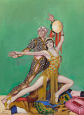 Mainstream Illustration, JEAN OLDHAM (American, 20th Century). Fowler and Tamara, TheDance Magazine cover, January 1928. Oil on canvasboard. 21....