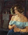 Mainstream Illustration, HOWELL DODD (American, 1910-2005). Stone Cold Wife, True FactCrime magazine cover, June 1953. Oil on board. 17 x 14.125...(Total: 2 Items)