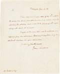 Autographs:U.S. Presidents, James Madison Autograph Letter Signed...