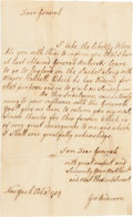 Autographs:Military Figures, [French and Indian War] and [John Forbes]. George Anderson Autograph Letter Signed...