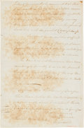 Autographs:Military Figures, [Benedict Arnold]. Period Fair Copy of Benedict Arnold Letter to Horatio Gates....