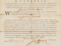 Autographs:Statesmen, John Hancock Military Appointment Signed...