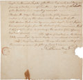 Autographs:Military Figures, Major General Nathaniel Goodwin Autograph Document Signed....