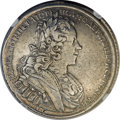 Russia, Russia: Peter II Poltina (1/2 Rouble) 1727 C?? VF Details (Excessive Surface Hairlines) NGC,...